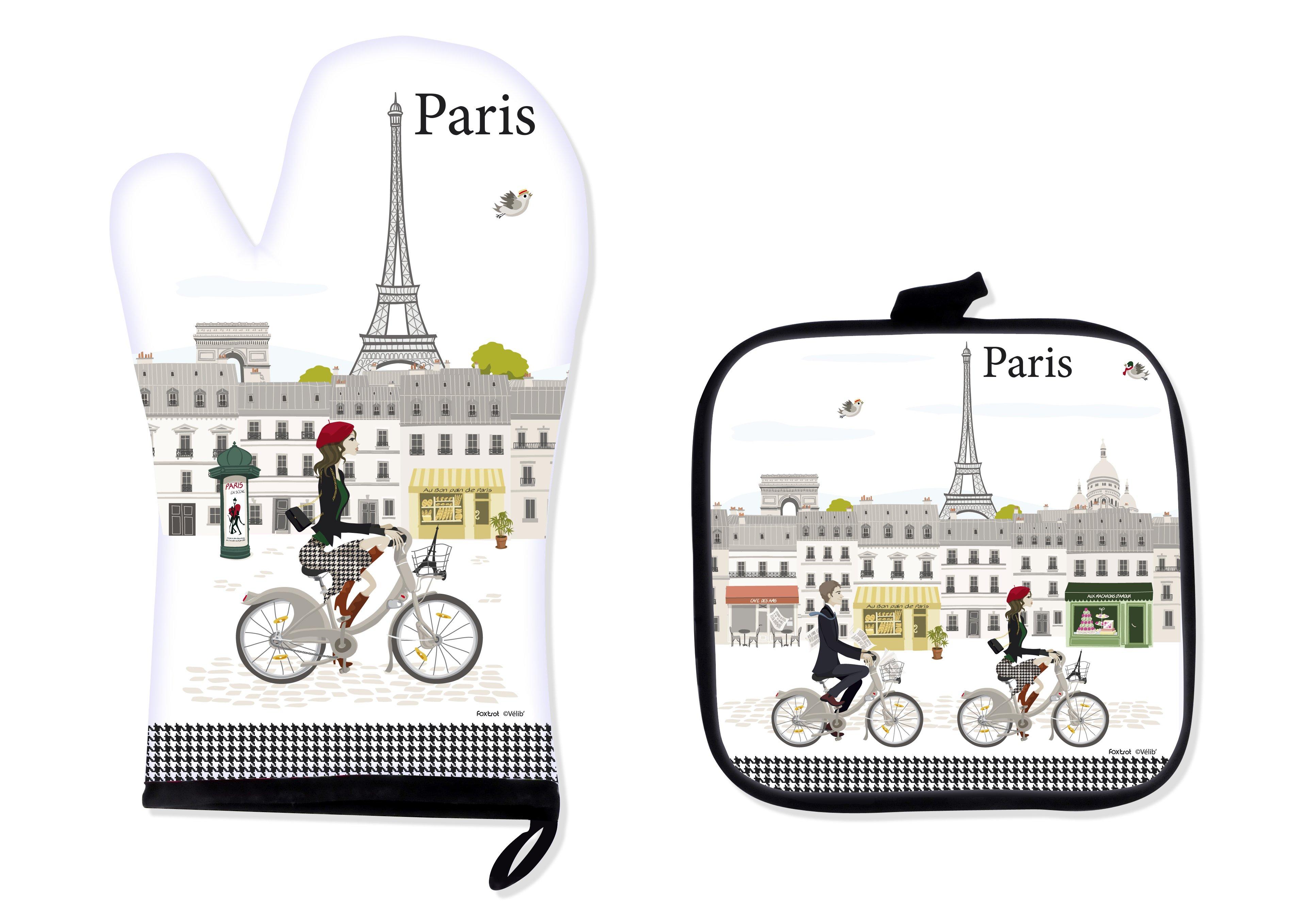 Kuchynské chňapky Foxtrot Cyklisti Paríž LIB8780